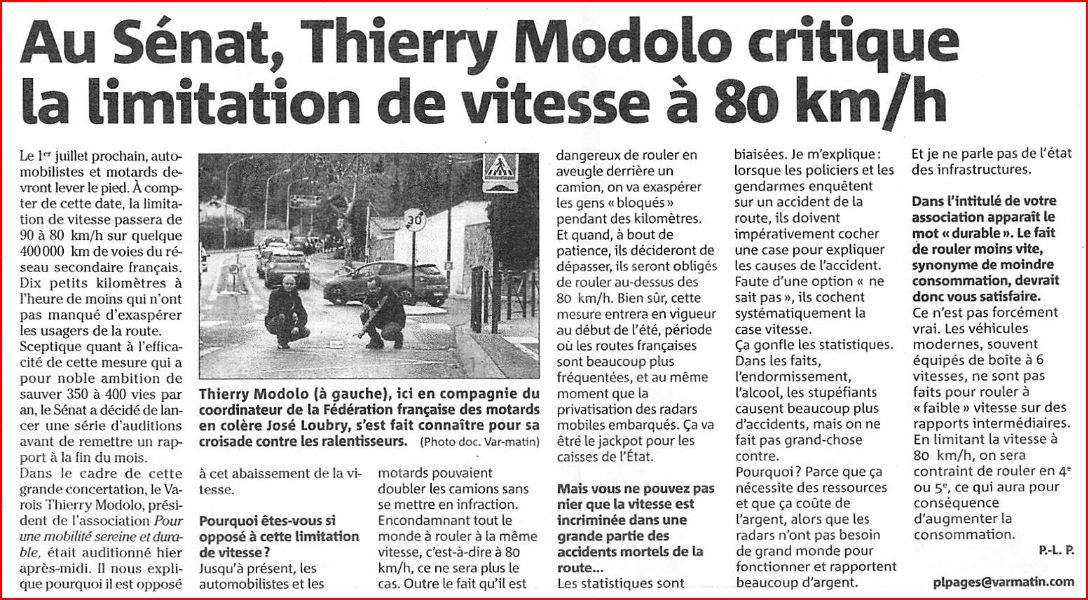 80kmh thierry Modolo
